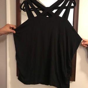 Lane Bryant Black Top Unique Straps Size 22/24